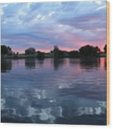 Prosser Pink Sunset 5 Wood Print