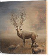 Deer Warm Tone Wood Print