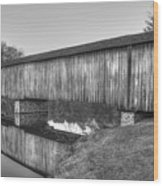 Protection That Works Historic Watson Mill Covered Bridge Wood Print