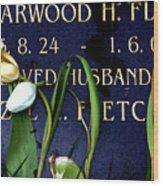 Protective Tulips Wood Print