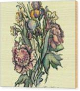 Proud Iris Wood Print