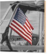 Proud Nautical American  Wood Print
