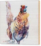 Proud Pheasant  Wood Print