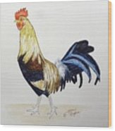 Proud Rooster Wood Print