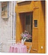 Provence Cafe Wood Print