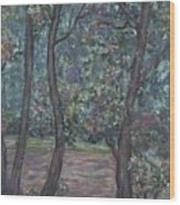Provence Flowers Wood Print