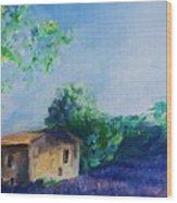Provence House Wood Print