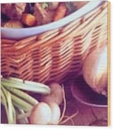 Provence Kitchen Shallots Wood Print