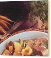 Provence Kitchen Stew Wood Print