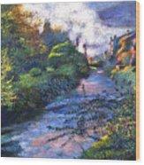 Provence River Wood Print