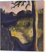 Provence Tree Wood Print