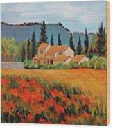 Provence Villa Wood Print
