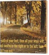 Proverbs104 Wood Print