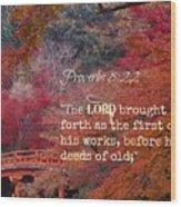 Proverbs105 Wood Print