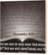 Proverbs106 Wood Print