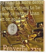 Proverbs117 Wood Print