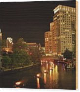 Providence Waterfire Wood Print