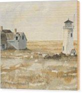 Provincetown Light Wood Print