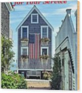 Provincetown Patriot By Sharon Eng Wood Print