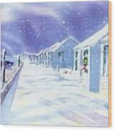 Provincetown Winter Wood Print