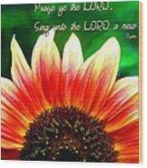 Psalm 149 1 Wood Print