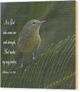Psalm 18 V 32 Wood Print