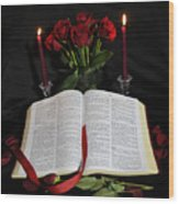 Psalms 91 Wood Print
