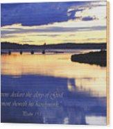 Psalm Reflected At Acadia National Park Two Wood Print