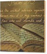 Psalms101 Wood Print