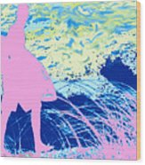 Psychadelic  Beach Wood Print