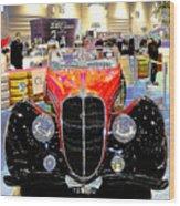 Psychedelic 1947 Delahaye 135m Letourner Et Marchand Cabriolet Wood Print