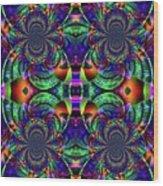 Psychedelic Abstract Kaleidoscope Wood Print