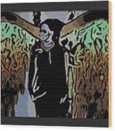 Psychedelic Angel Wood Print