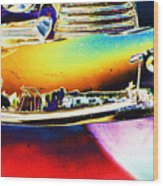 Psychedelic Chevy Bumper Wood Print