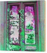 Psychedelic Door Wood Print
