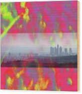 psychedelic energy of Los Angeles Wood Print