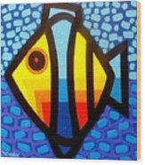 Psychedelic Fish Wood Print by John  Nolan