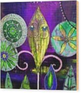 Psychedelic Garden 2 Wood Print