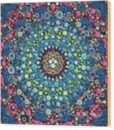 Psychedelic Mandala Wood Print