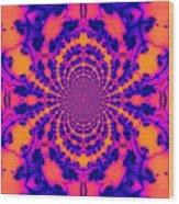 Psychedelic Mandelbrot Set  Kaleidoscope Wood Print