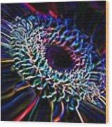 Psychedelic Neon Wood Print