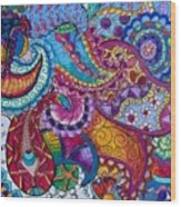 Psychedelic Paisley Wood Print