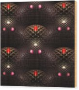 Psychedelic Pattern Wood Print