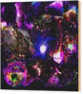Psychedelic Rainbow Nebula Galaxy Universe Wood Print