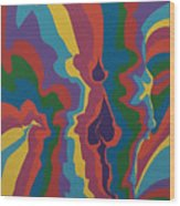 Psychedelic Skull Wood Print