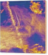 Psychedelic Skys Wood Print