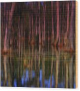 Psychedelic Swamp Trees Wood Print