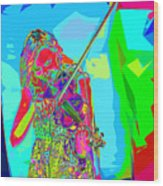 Psychedelic Violinist Wood Print