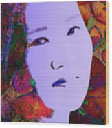 Psychedelic Woman Wood Print