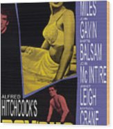 Psycho, Anthony Perkins, Janet Leigh Wood Print by Everett